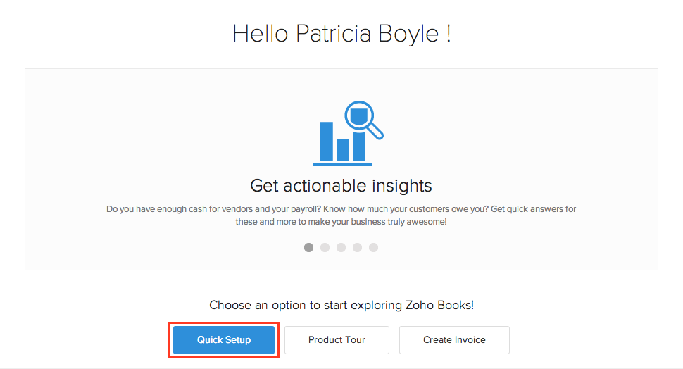 Zoho Books Signup