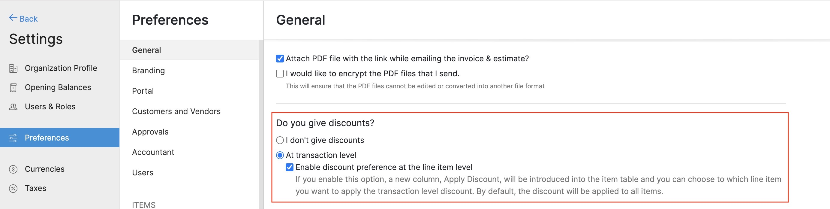 Configure Discount Preference