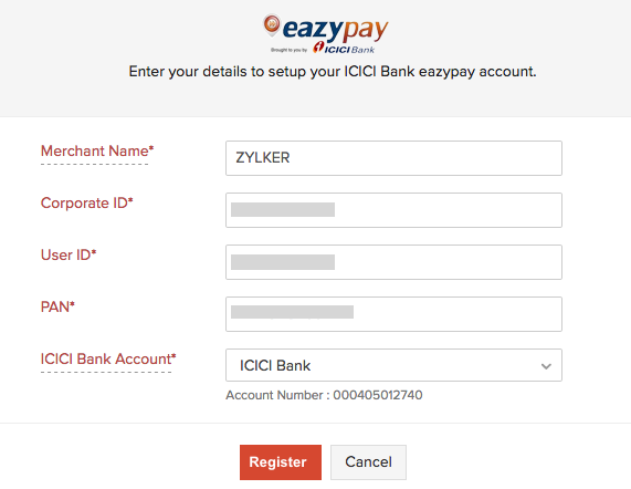 New eazypay account