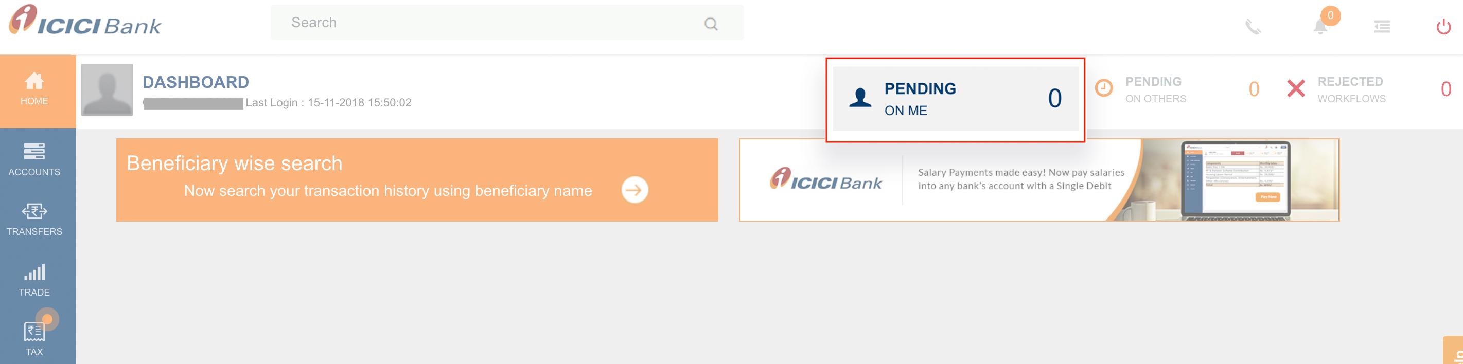 CIB Portal Dashboard