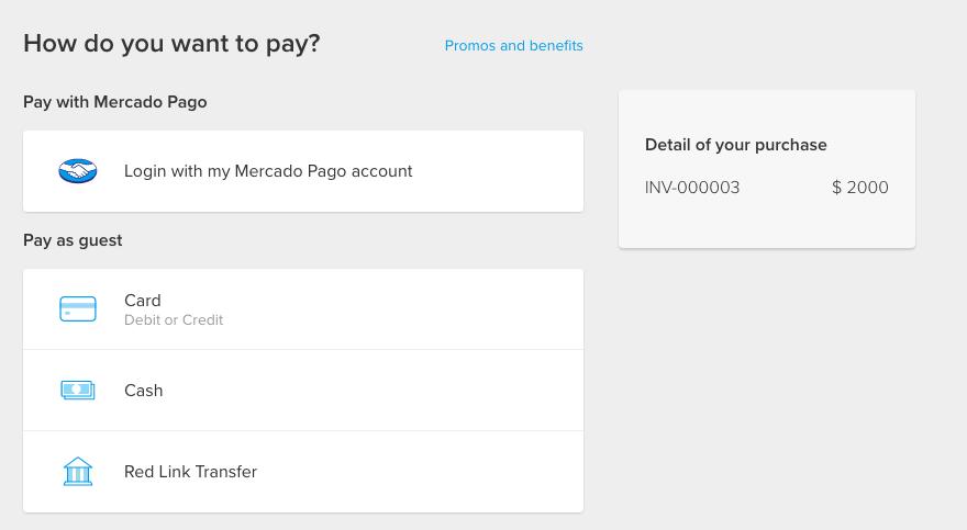 Pay using Mercado Pago