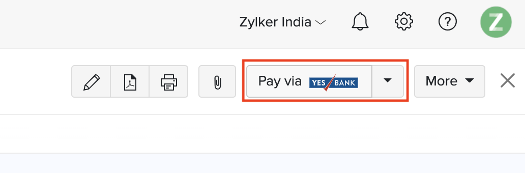 Pay via Yes Bank