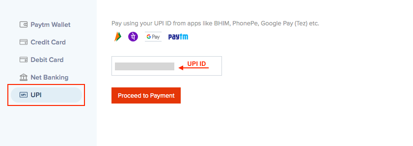 Pay via UPI