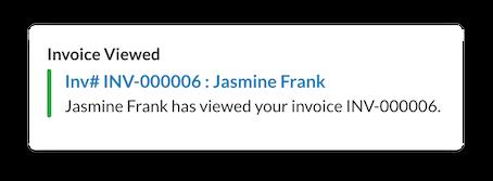 View estimate or invoice