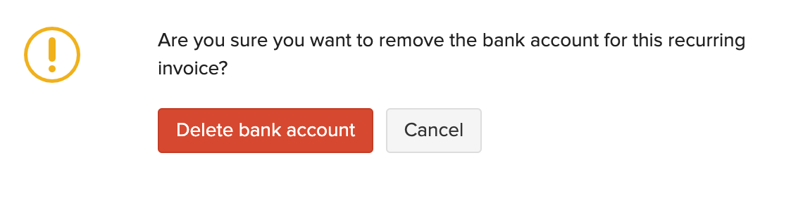 Delete Recurring Bank Account