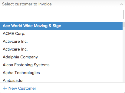 Creating New Customer in Invoice