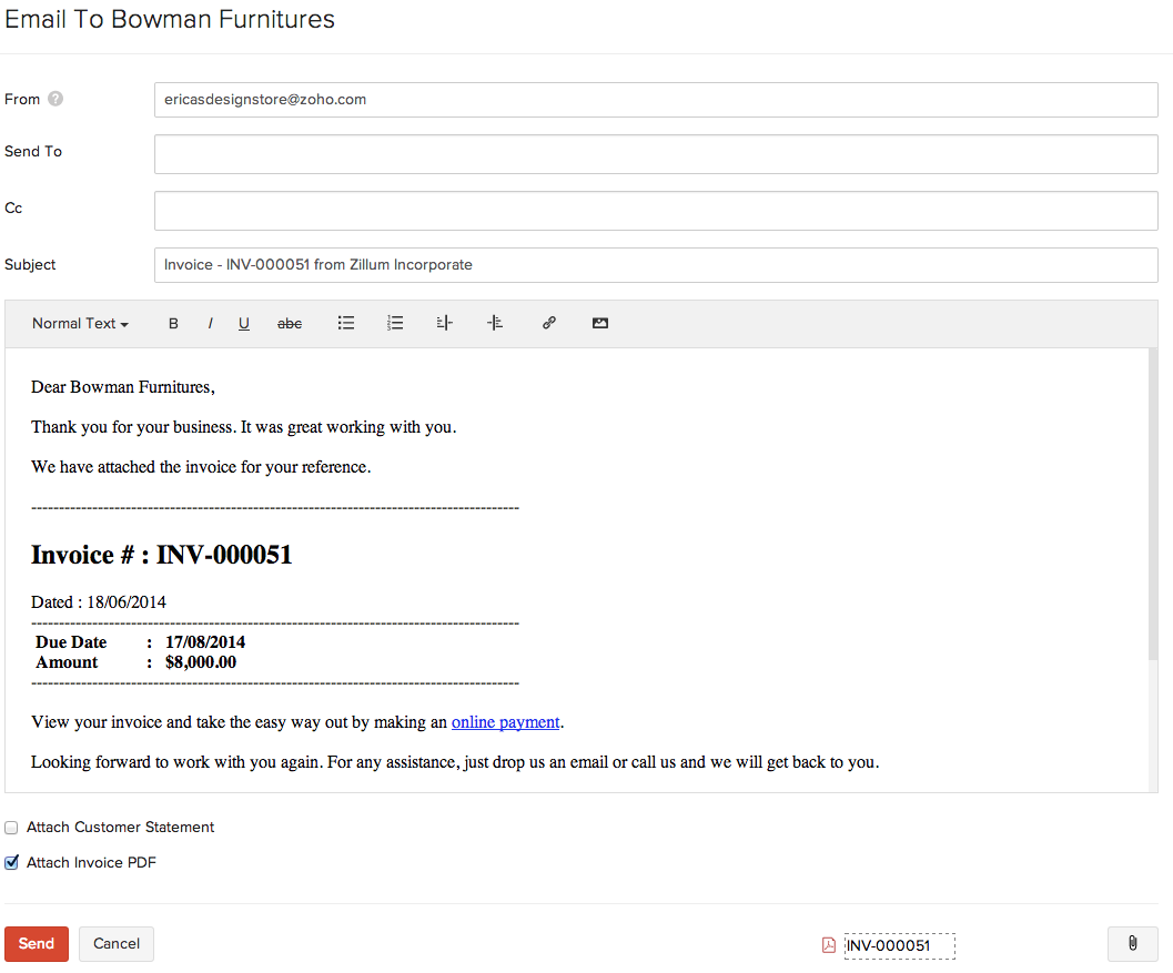 Opportunitycaus  Marvellous Invoices  User Guide  Zoho Books With Inspiring Sending Invoices To Customers With Cool Us Customs Invoice Form Also Free Invoice Templates Download In Addition Online Invoicing Services And Invoice Discounting Finance As Well As Free Excel Invoice Software Additionally Basic Invoice Layout From Zohocom With Opportunitycaus  Inspiring Invoices  User Guide  Zoho Books With Cool Sending Invoices To Customers And Marvellous Us Customs Invoice Form Also Free Invoice Templates Download In Addition Online Invoicing Services From Zohocom