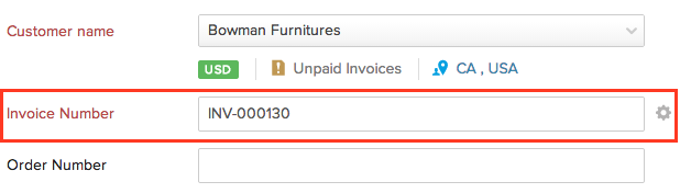 How to create invoice with automatic invoice numbering?
