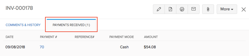 Payments Received