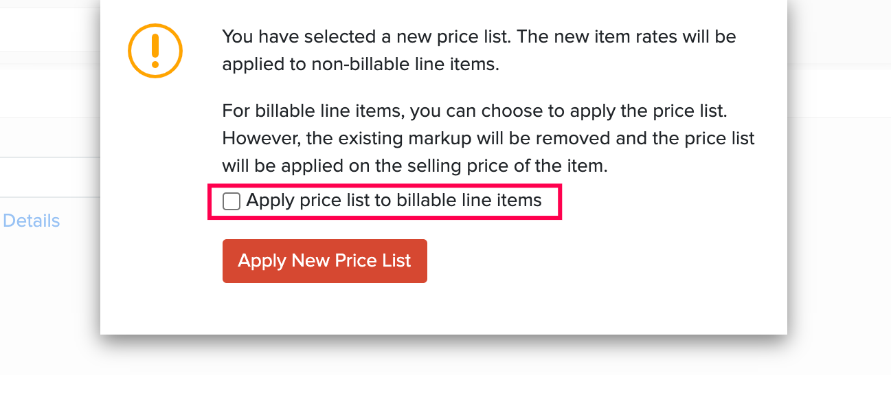 Apply Price Lists on Billable items