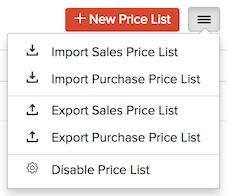 Price List - Import