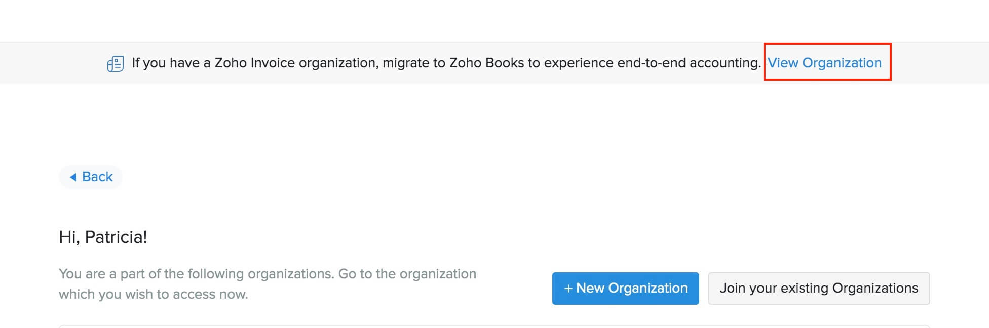 Upgrade to Zoho Books