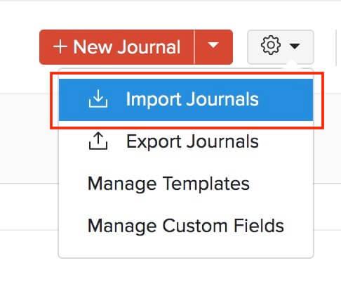 Import Journals