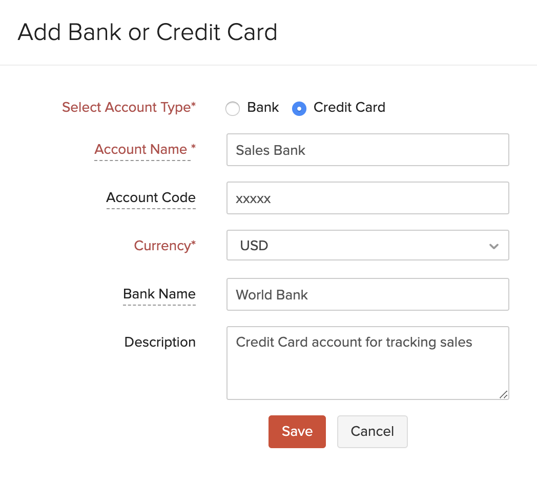 Add Credit Card Account