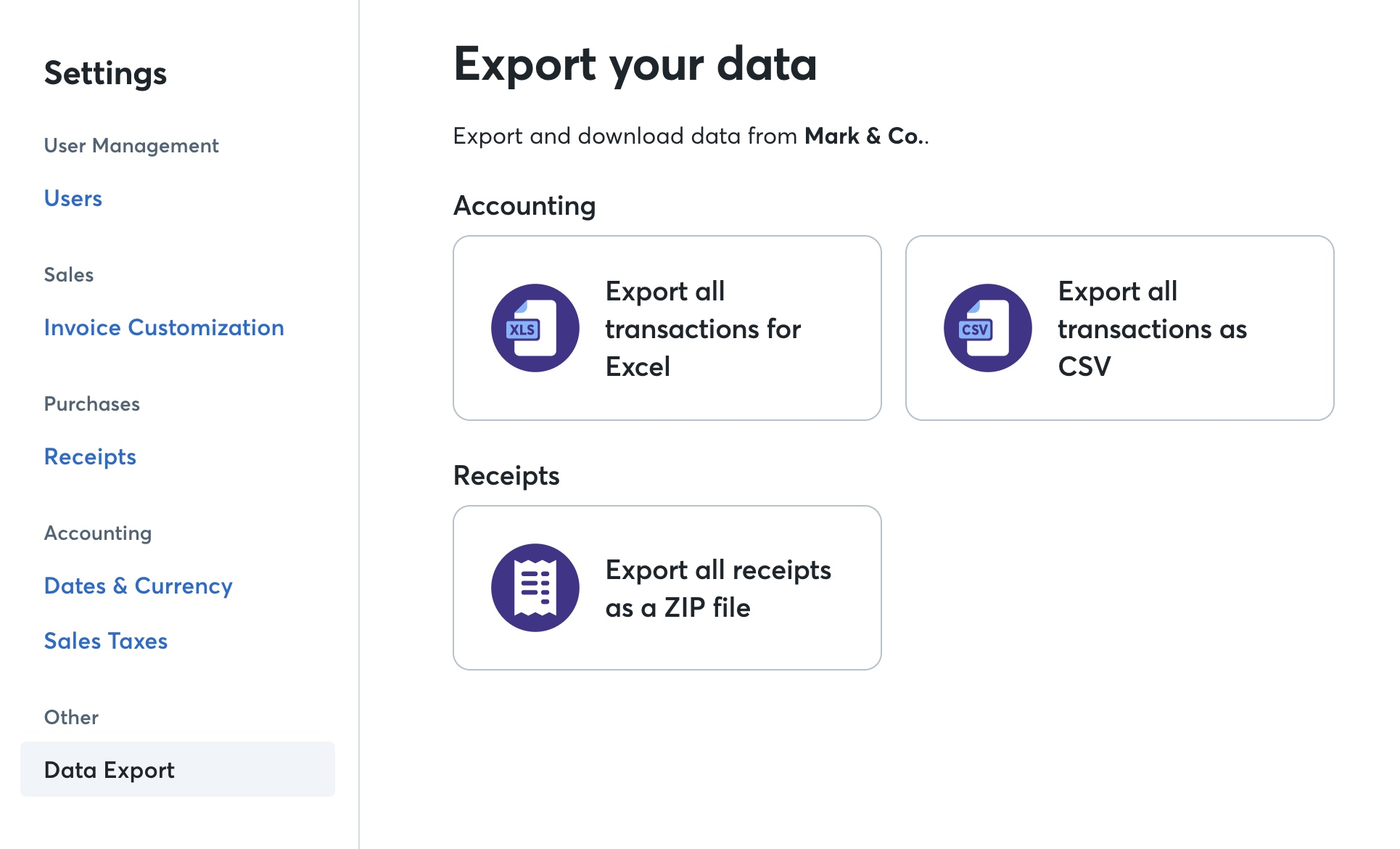 Export Data from Wave