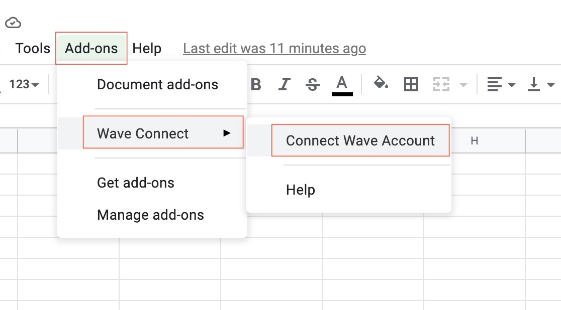 Wave Connect Account