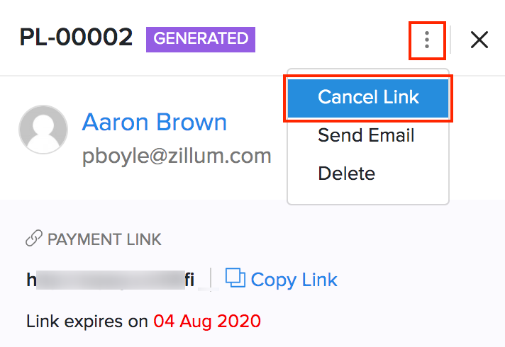 Cancel Payment Links