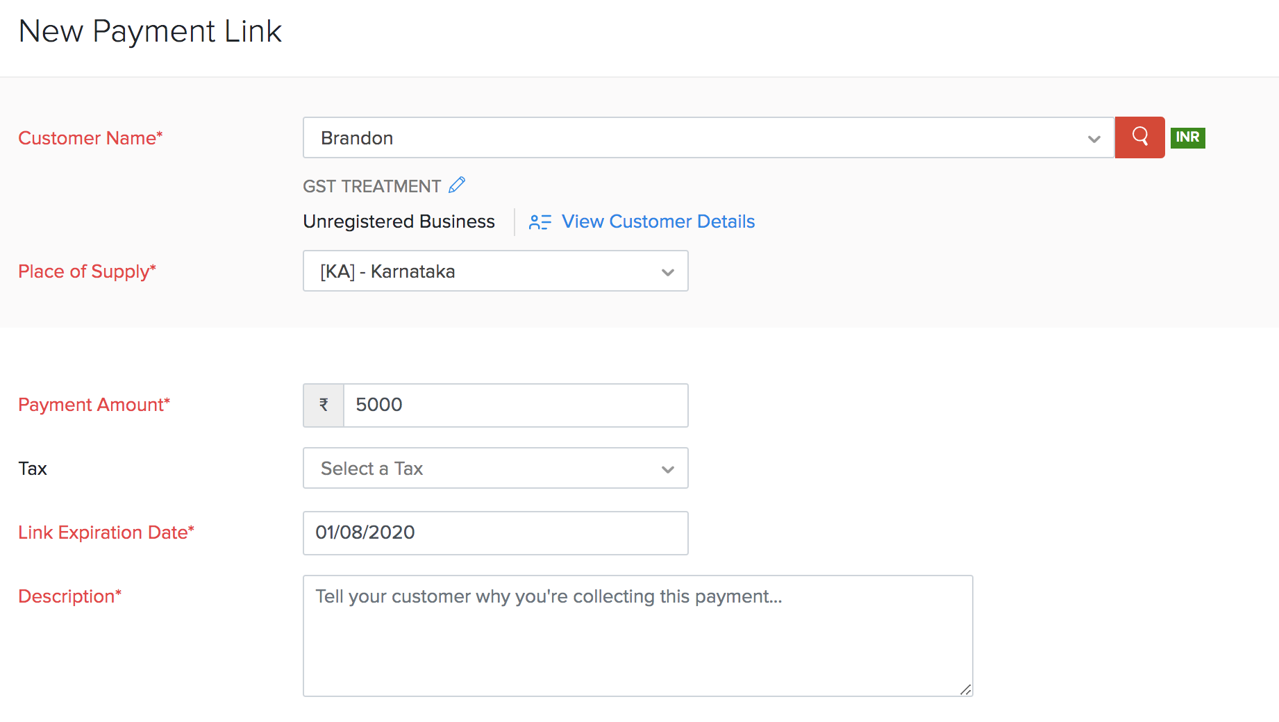 Create Payment Links