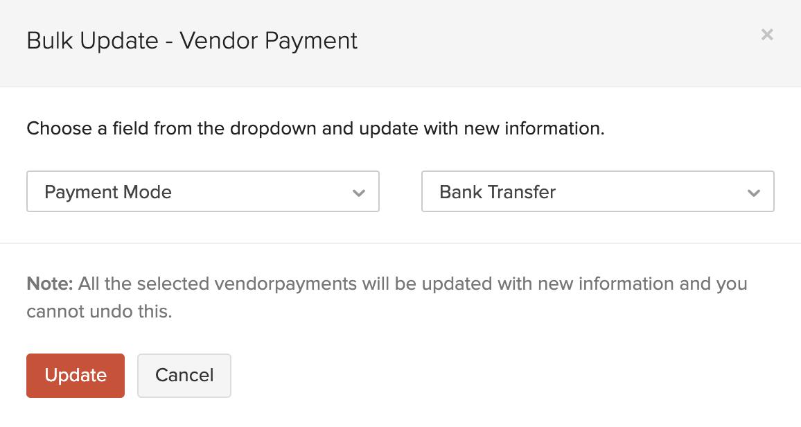 Bulk Update Payments