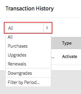 Filter Transactions