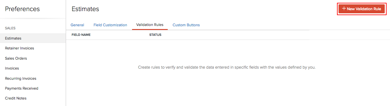 Create Validation Rule