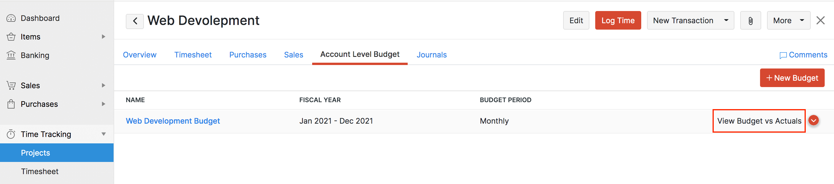 Project Overview Budget