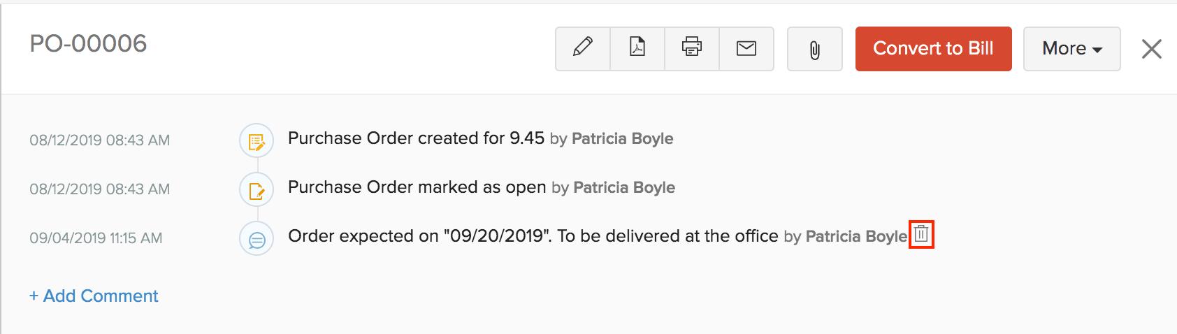 Delete Delivery Date