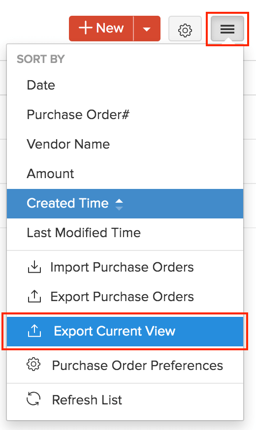 Export Custom View