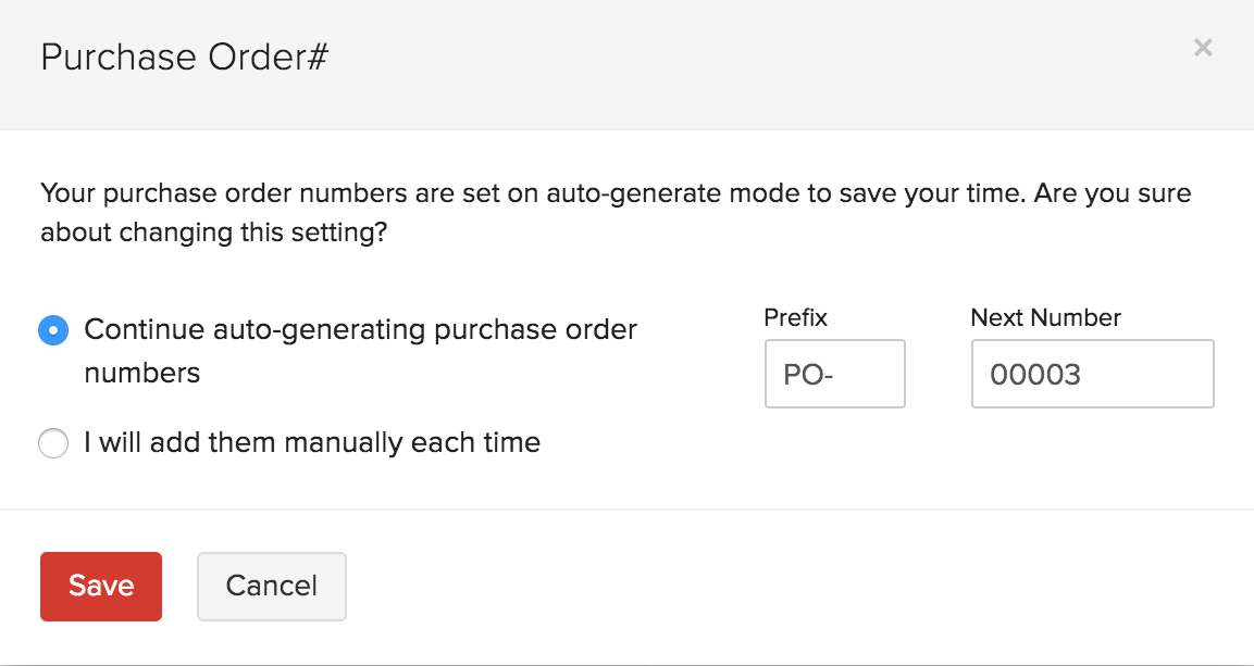 Auto Generate Purchase Order Number