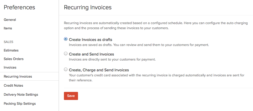 Create Recurring Invoices User Guide Zoho Books - Invoice email to client