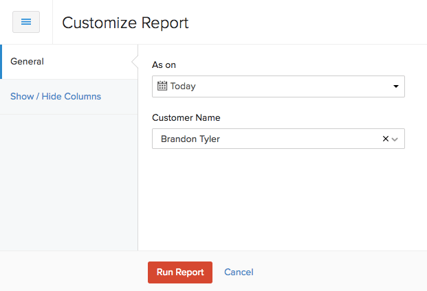 Customize Report