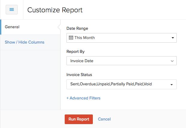 Customize Report
