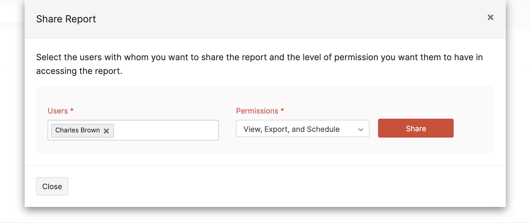 Edit Role's Report Permissions