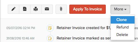 Clone your invoice