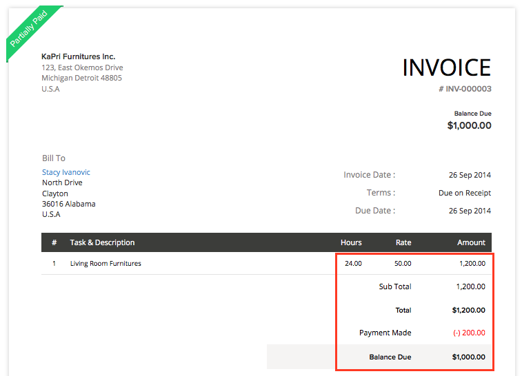 how to create a new invoice template in quickbooks - retainer invoice in projects help zoho books