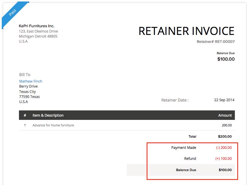 Refund Adjustment
