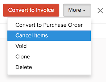Cancel Items