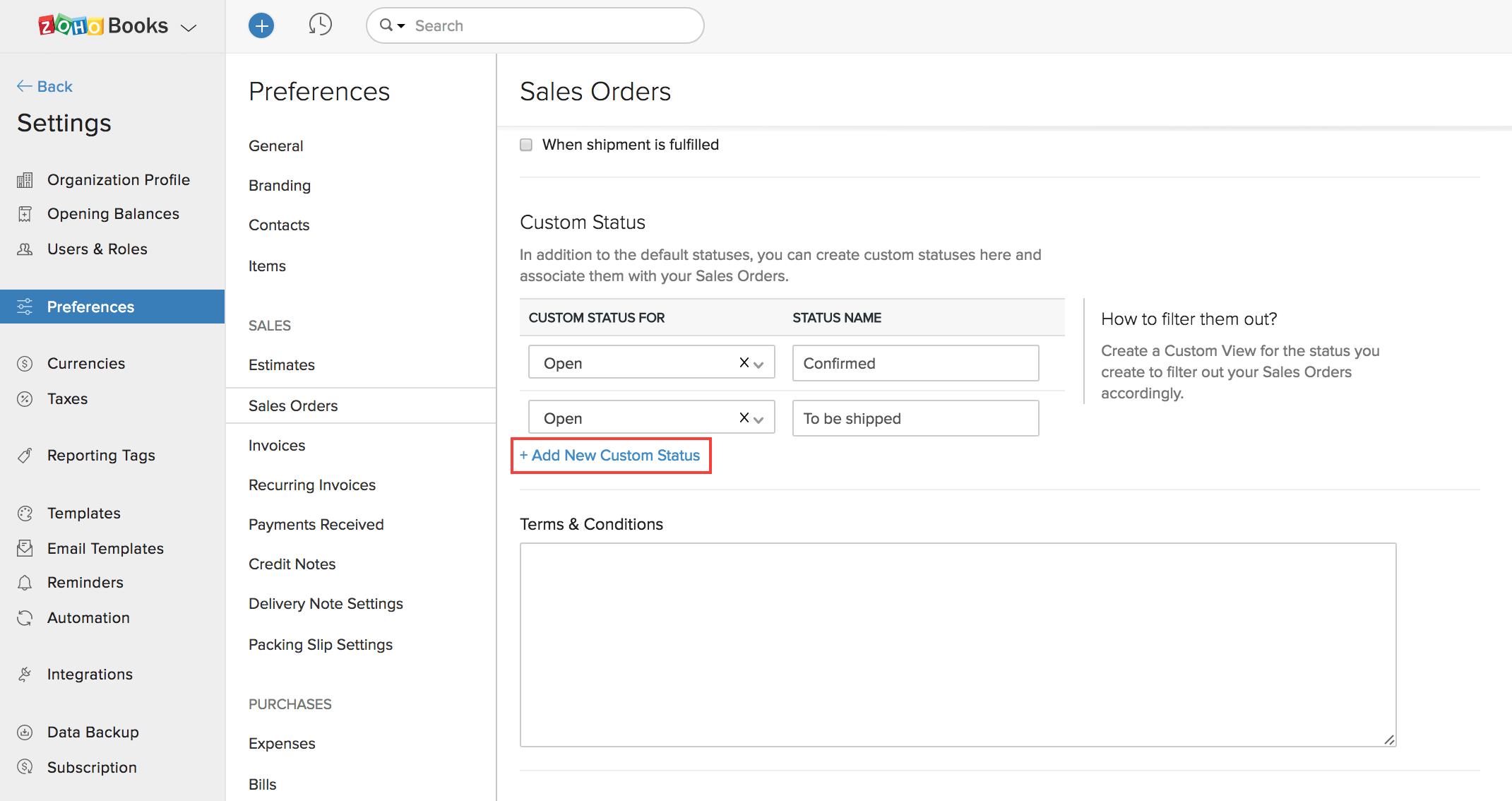 Create Custom Status