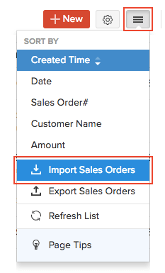 Import Sales Orders