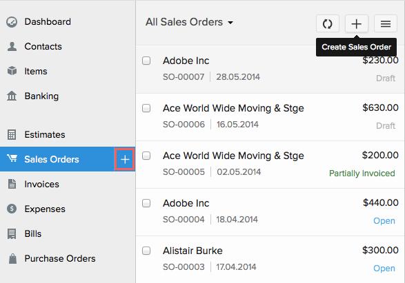 New Sales Order