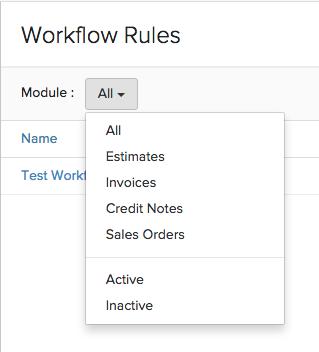 Workflow Filter