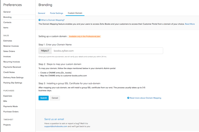 Branding Custom Domain