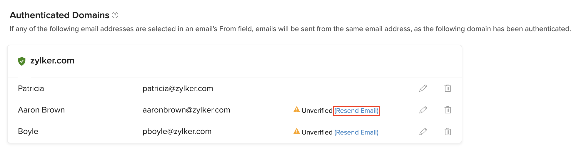 Resend Verification Email