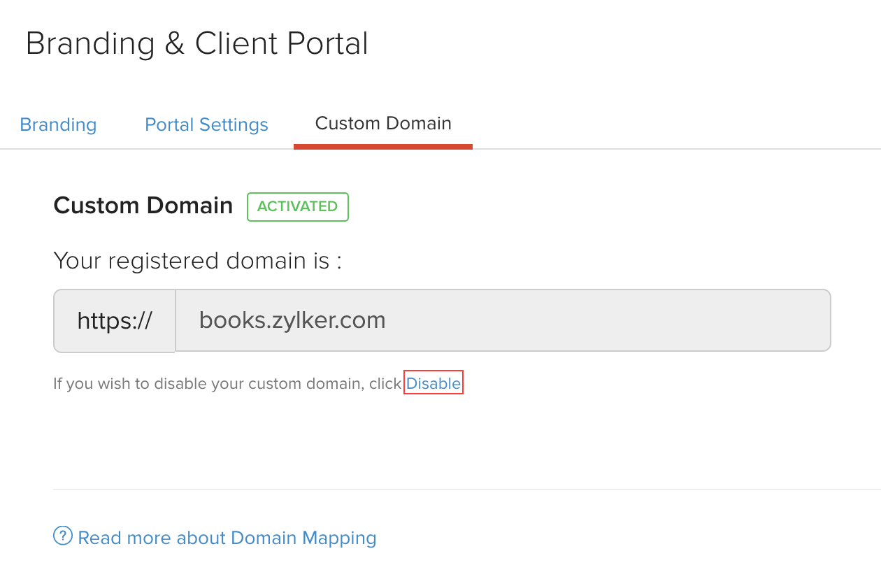 Disable Custom Domain