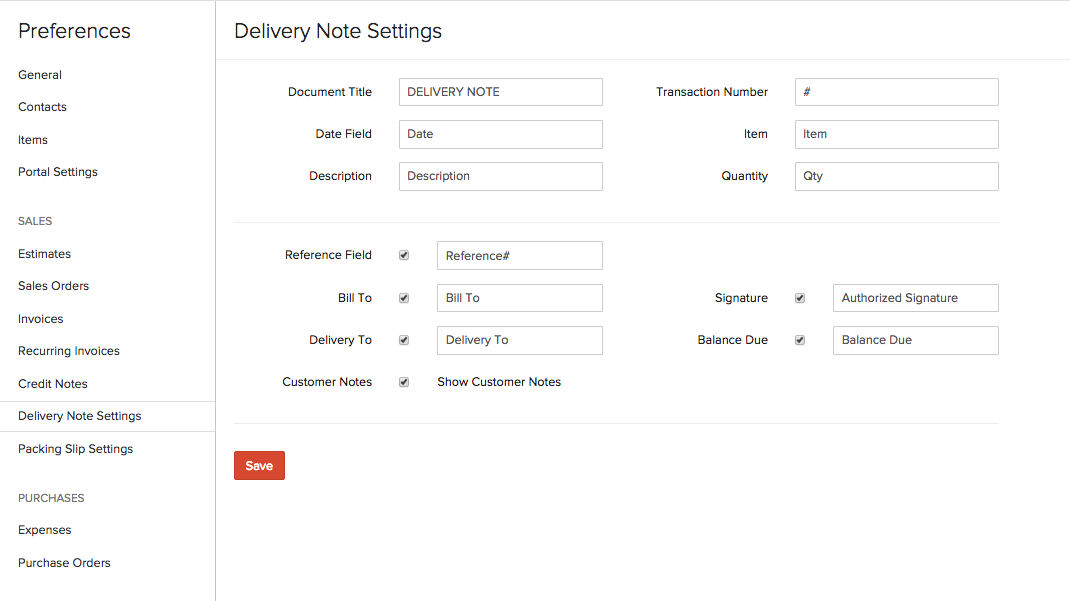Preferences User Guide – Delivery Note Template Word