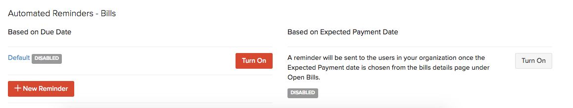 Automated Reminder for Bills