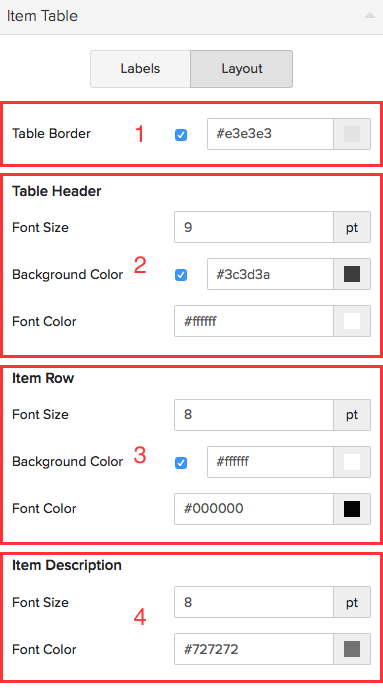 Templates user guide zoho books for Table th font size