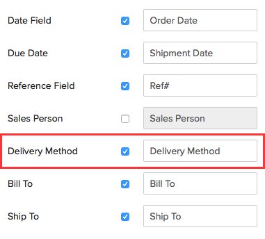 Sales Order Specific
