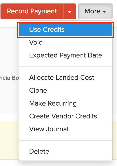 Use credits