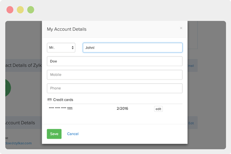Let customers self-manage their account.